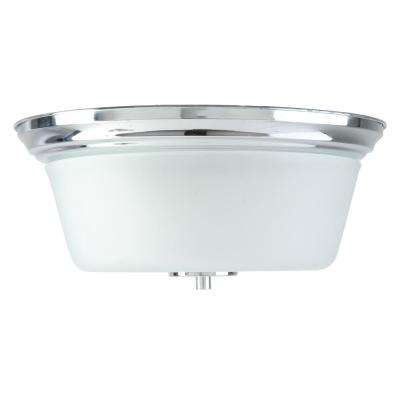 Markam 2-Lights Chrome Flush Mount