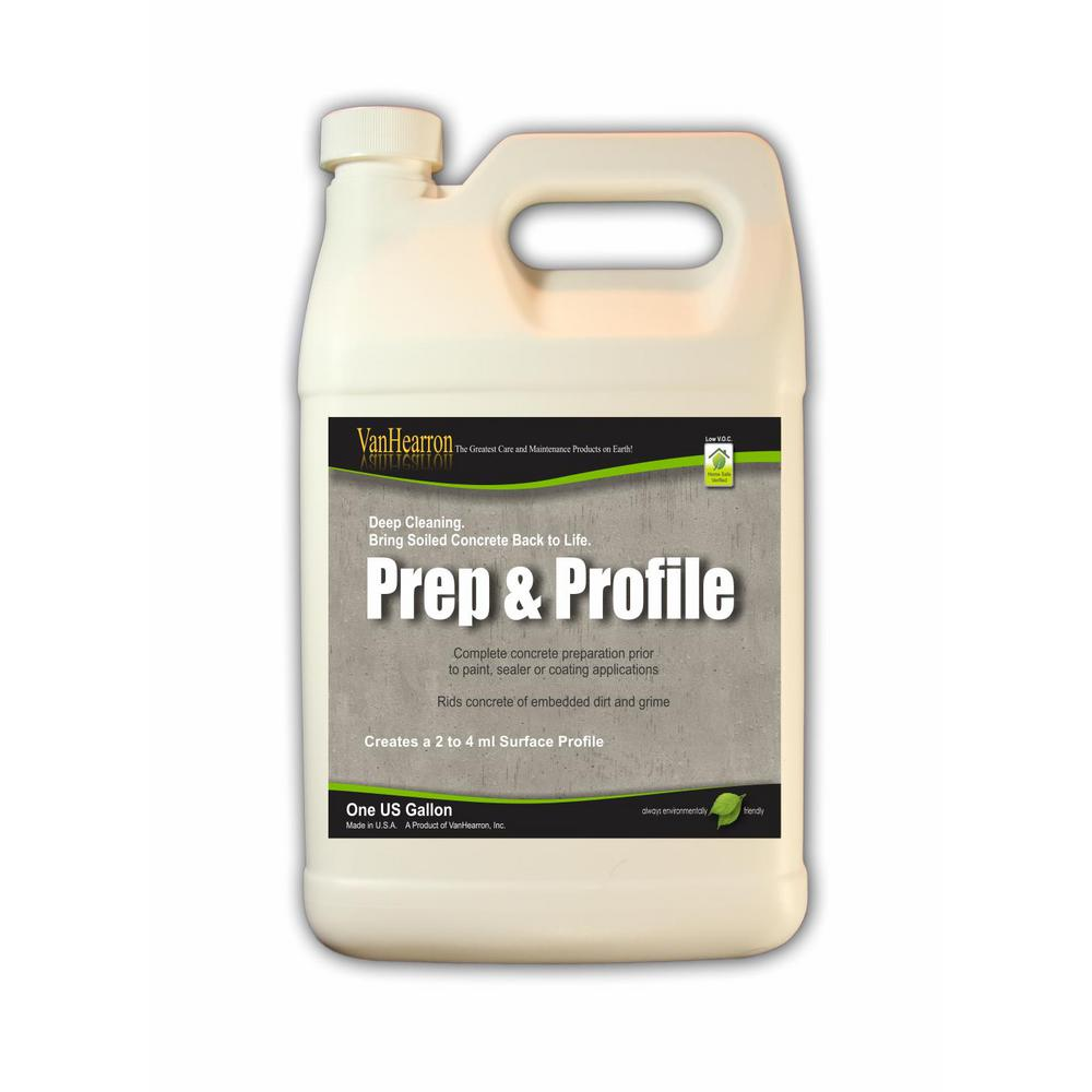 Prep N Profile 1 Gal Concrete Cleaner Degreaser And Acid Etching