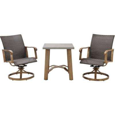 Hermosa 3-Piece All-Weather Wicker Square Patio Bistro Set