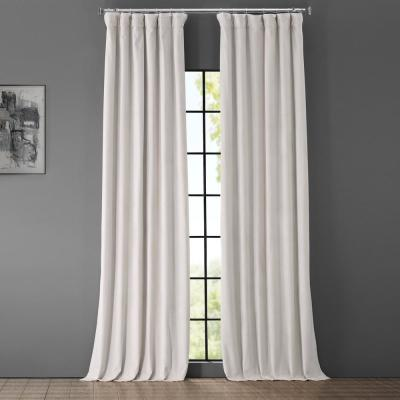 Blackout Signature Porcelain White Blackout Velvet Curtain - 50 in. W x 108 in. L (1 Panel)