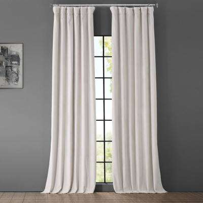Blackout Signature Porcelain White Blackout Velvet Curtain - 50 in. W x 84 in. L (1 Panel)