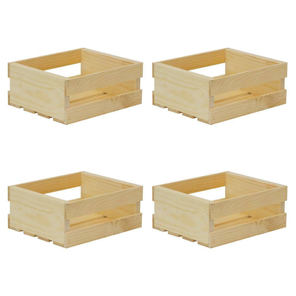 crates pallet in x 9 5 in x in small wood crate 4 pack 94644 the home depot. Black Bedroom Furniture Sets. Home Design Ideas