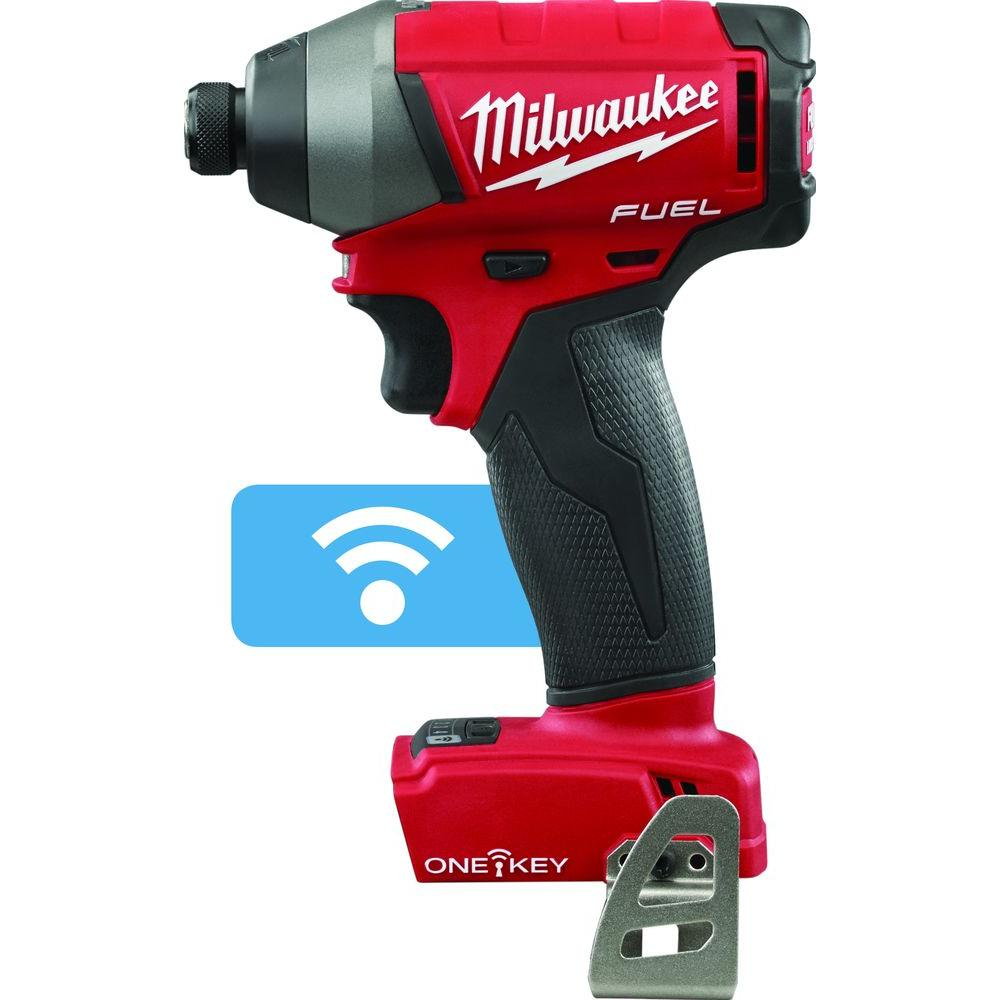 Milwaukee M18 FUEL with ONE-KEY 18-Volt Lithium-Ion Brushless 1/4 in. Cordless Hex Impact Driver (Tool-Only)