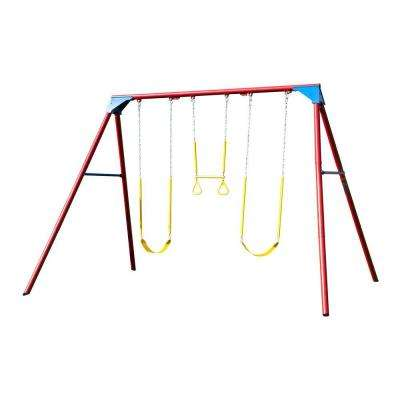 10 ft. A-Frame Swing Set Primary Colors