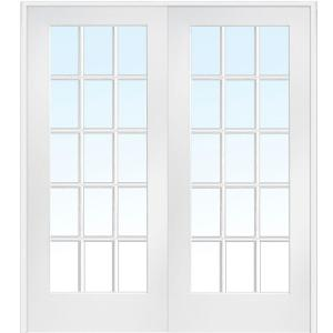 mmi door 615 in x in classic clear glass 15lite interior french double the home depot
