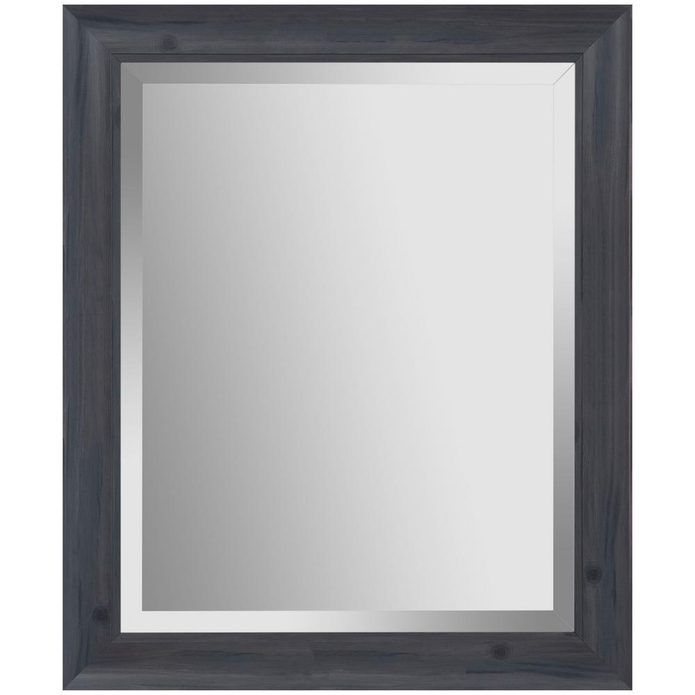 24 in. x 30 in. Scoop Framed Beveled Rectangular Graywash Decorative Mirror