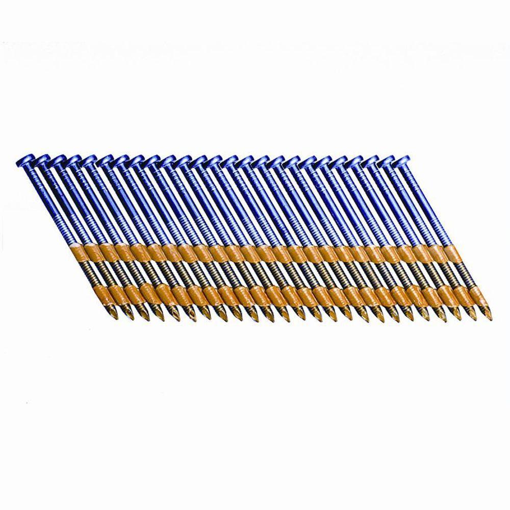 Grip-Rite 2-3/8 in. x 0.113-Gauge Plastic Galvanized Steel Ring Shank Framing Nails (5,000 per Box)