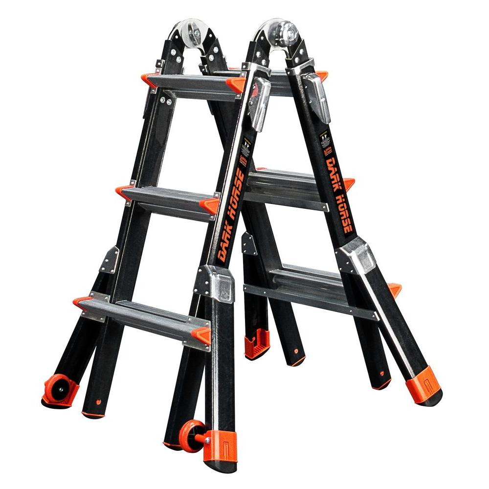 Dark Horse 13 ft. Fiberglass Multi-Position Ladder with 375 lb. Load