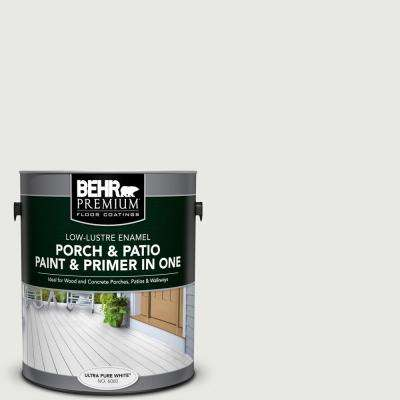 1 gal. #PFC-66 Ice White Low-Lustre Interior/Exterior Paint and Primer In One Porch and Patio Floor Paint