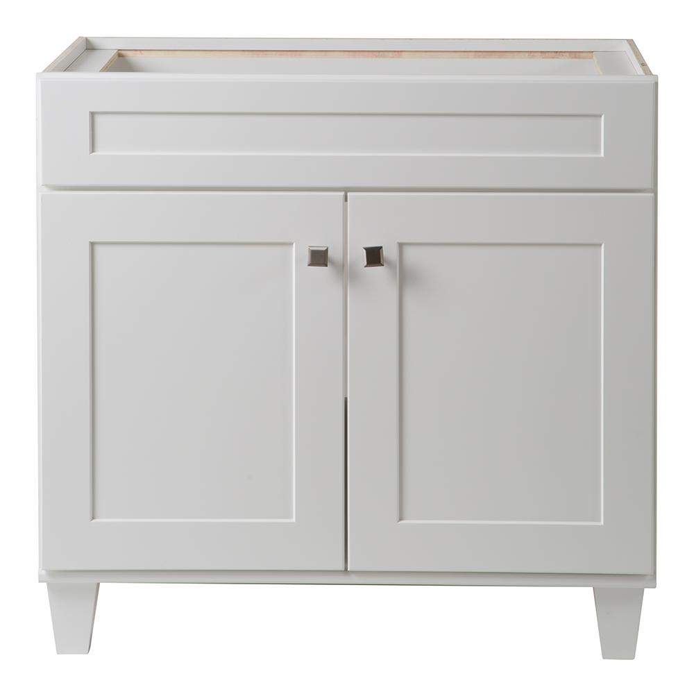 Home Decorators Collection Creeley 36 In Vanity Cabinet In Classic White 19evsdb36 The Home Depot