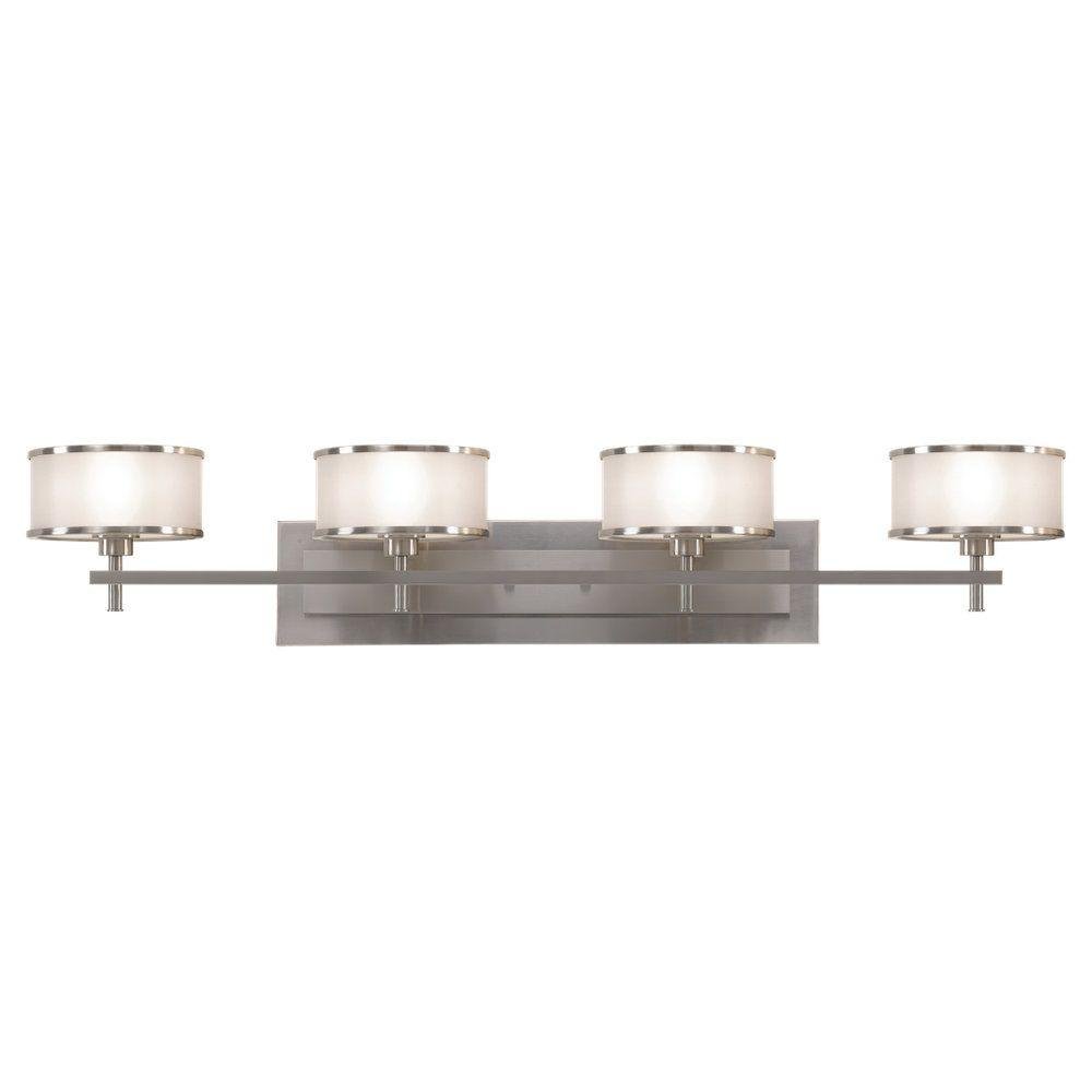 Feiss Casual Luxury 4-Light Brushed Steel Vanity Light