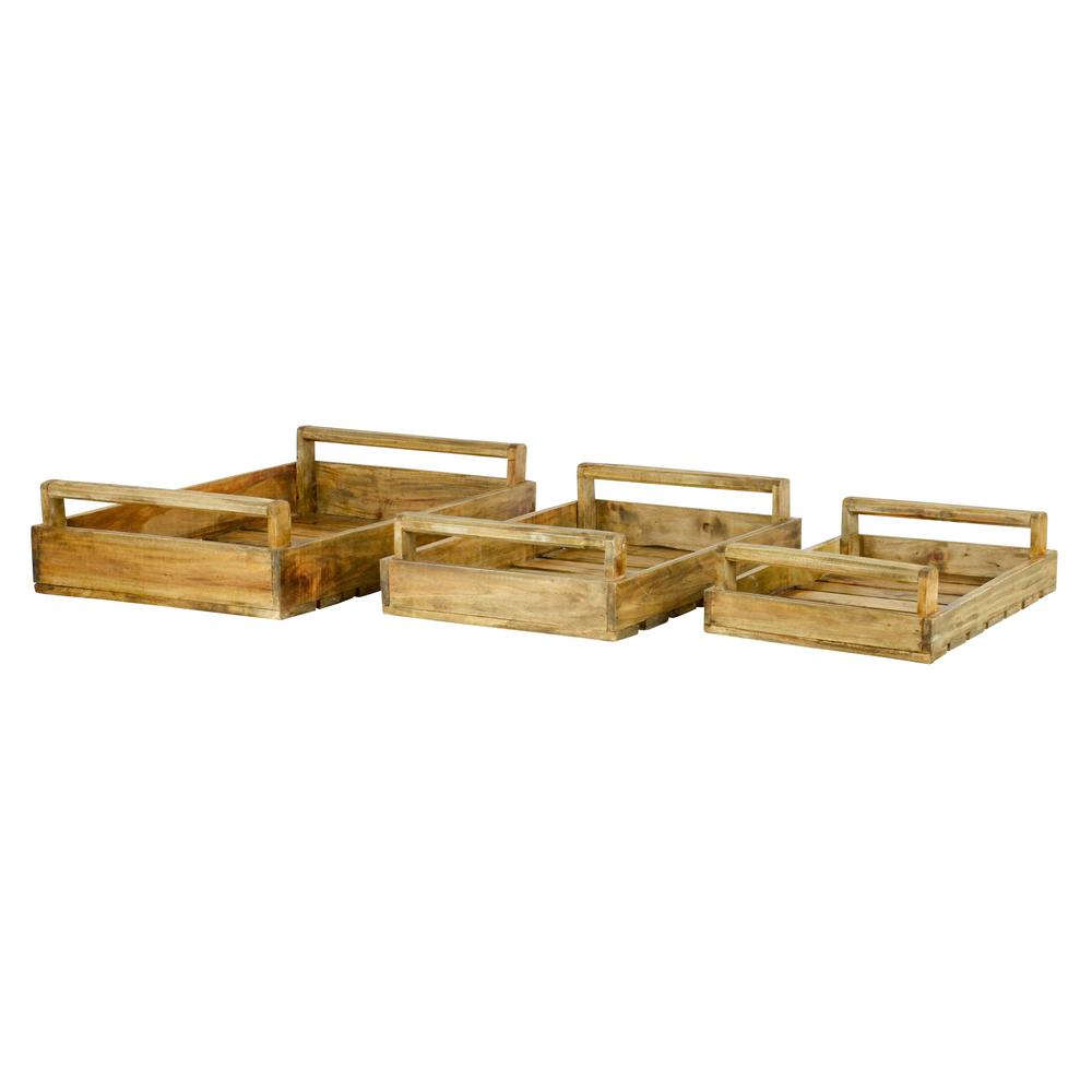 Harper Large Wood Trays (Set of 3)
