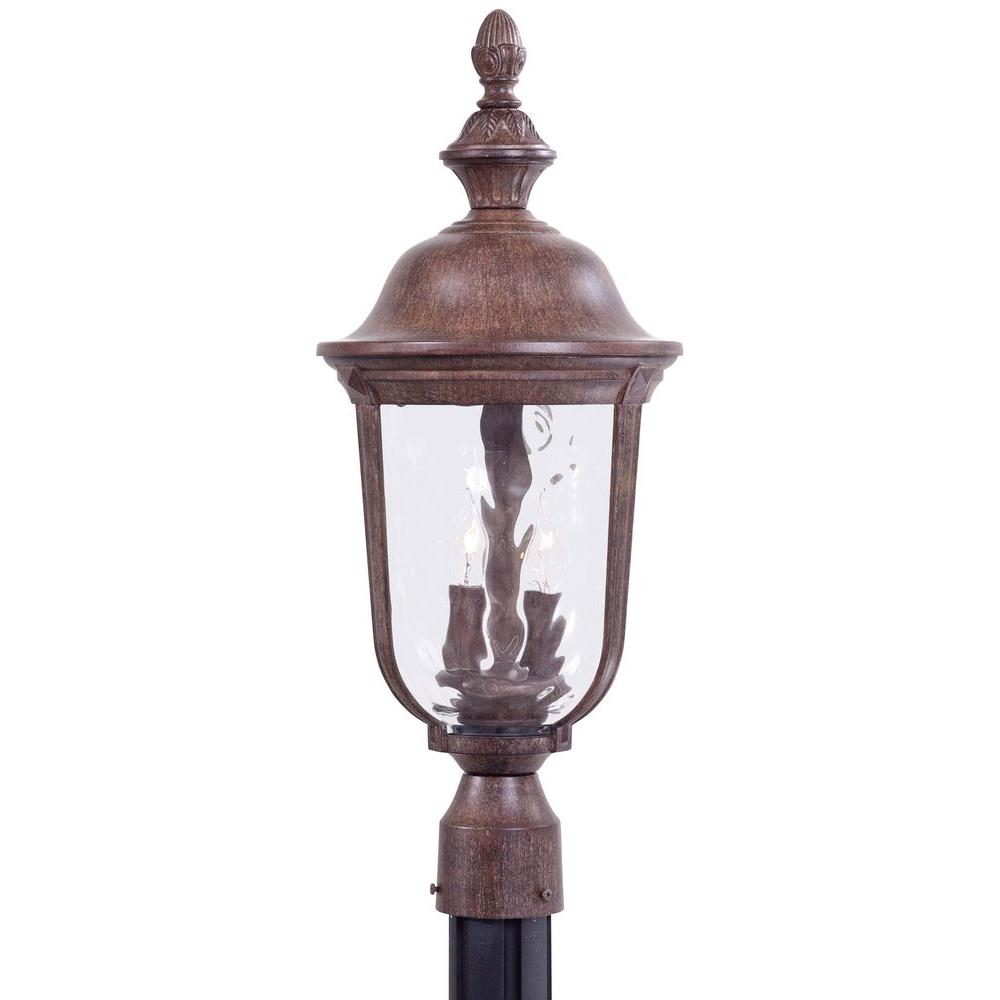 THE GREAT OUTDOORS Ardmore 2-Light Vintage Outdoor Rust P...
