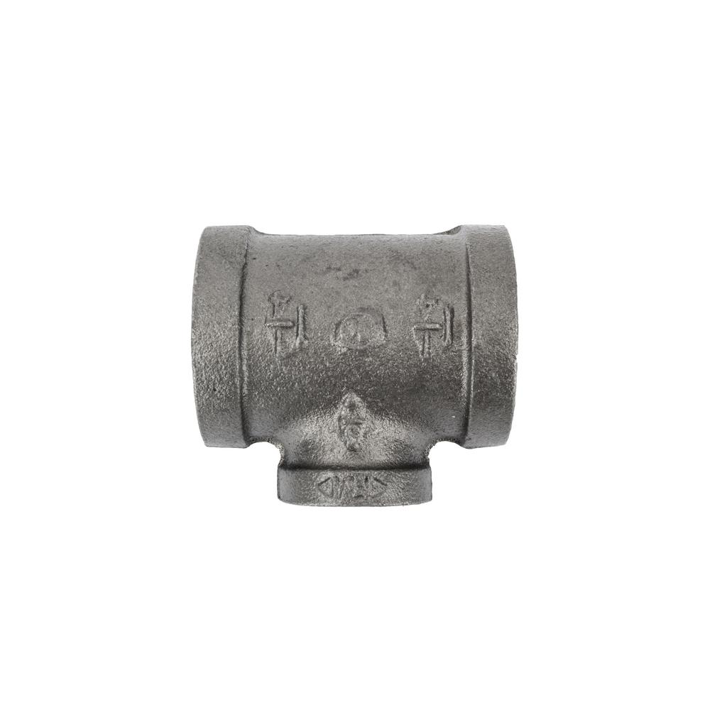 LDR Industries 1-1/4 in. x 1-1/4 in. x 3/4 in. Black Iron FPT x FPT ...