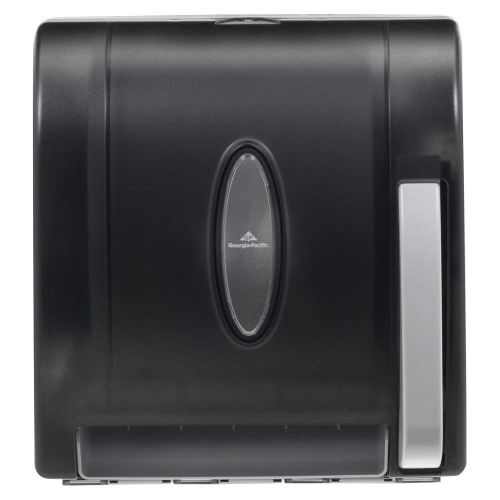 Translucent Smoke Push Paddle Non Perforated Roll Paper Towel Dispenser