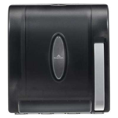 Translucent Smoke Push Paddle Non-Perforated Roll Paper Towel Dispenser