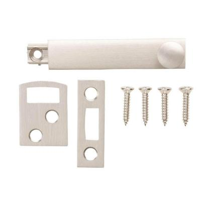 2-1/2 in. Satin Nickel Surface Bolt