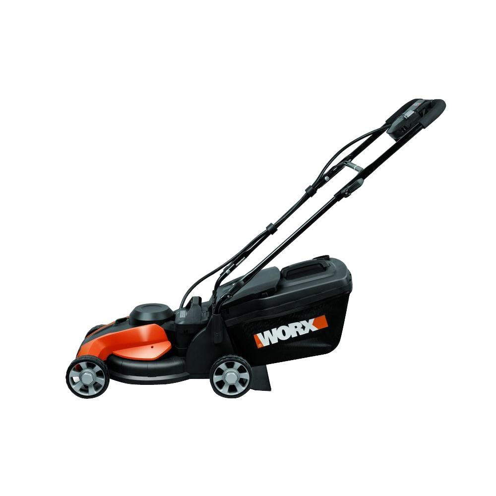 Worx 14 in. 24-Volt IntelliCut Cordless Walk Behind Battery Push Mower