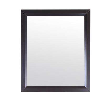 Shaker 30 in. W x 30 in. H Framed Wall Mounted Vanity Bathroom Mirror in Espresso