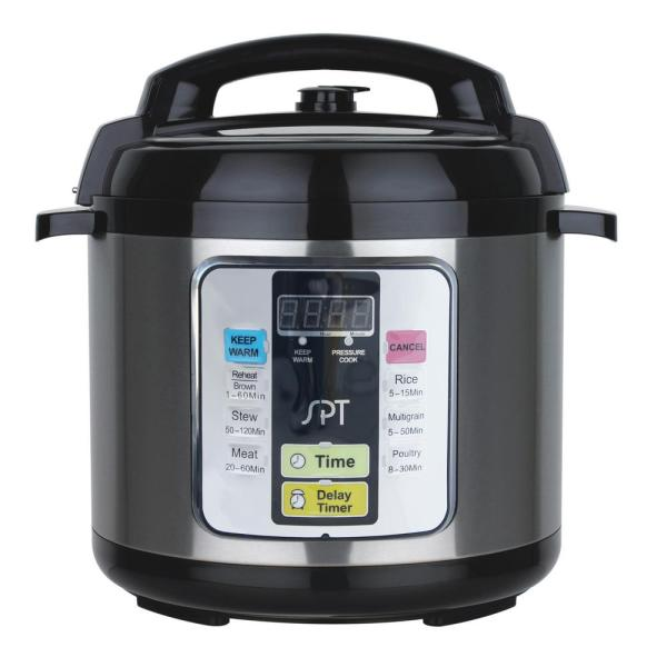 SPT 6.5 Qt. Stainless Steel Electric Pressure Cooker with Stainless Steel Insert