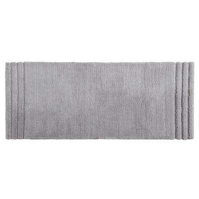 Empress 24 in. x 60 in. Cotton Runner Bath Rug in Gray