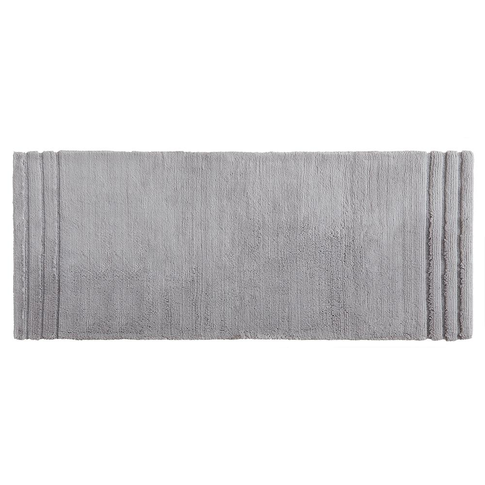 Mohawk Home Empress 24 in. x 60 in. Cotton Runner Bath Rug in Gray