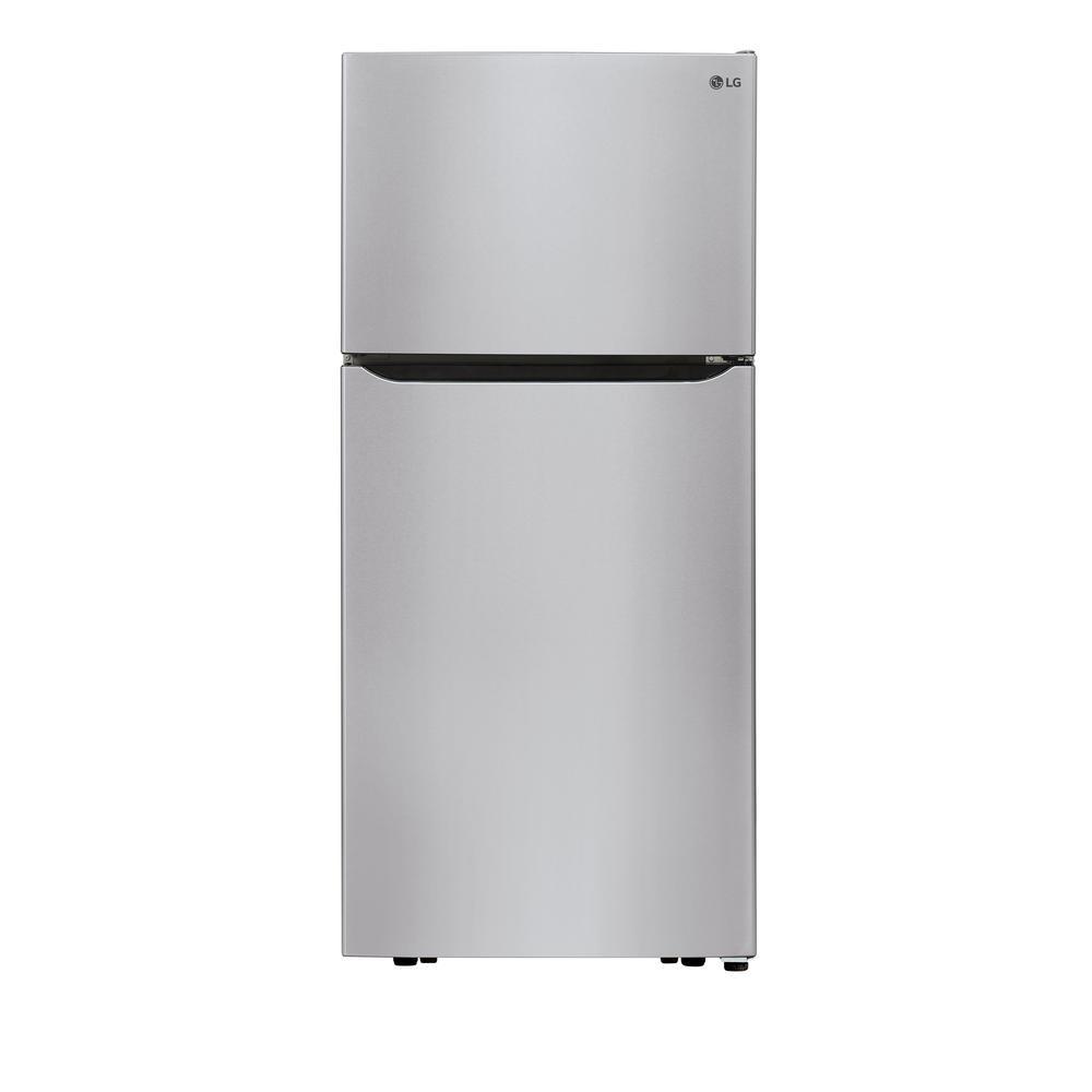 30 in. W 20.2 cu. ft. Top Freezer Refrigerator in Stainless Steel with Reversible Door