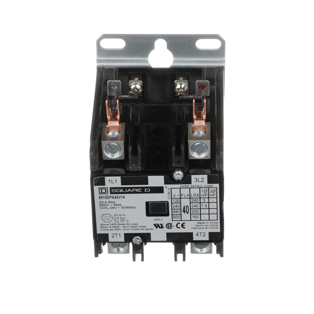 Square D 40 Amp 24-Volt AC 2 Pole Open Definite Purpose Contactor (20-Pack)