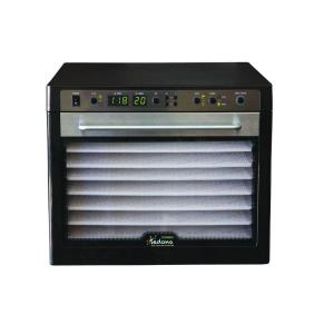 Sedona Combo 9-Tray Black Stainless Steel Food Dehydrator with Built-In Timer