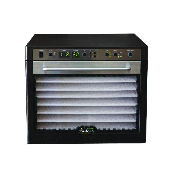 Tribest Sedona Combo 9-Tray Black Stainless Steel Food Dehydrator with Built-In
