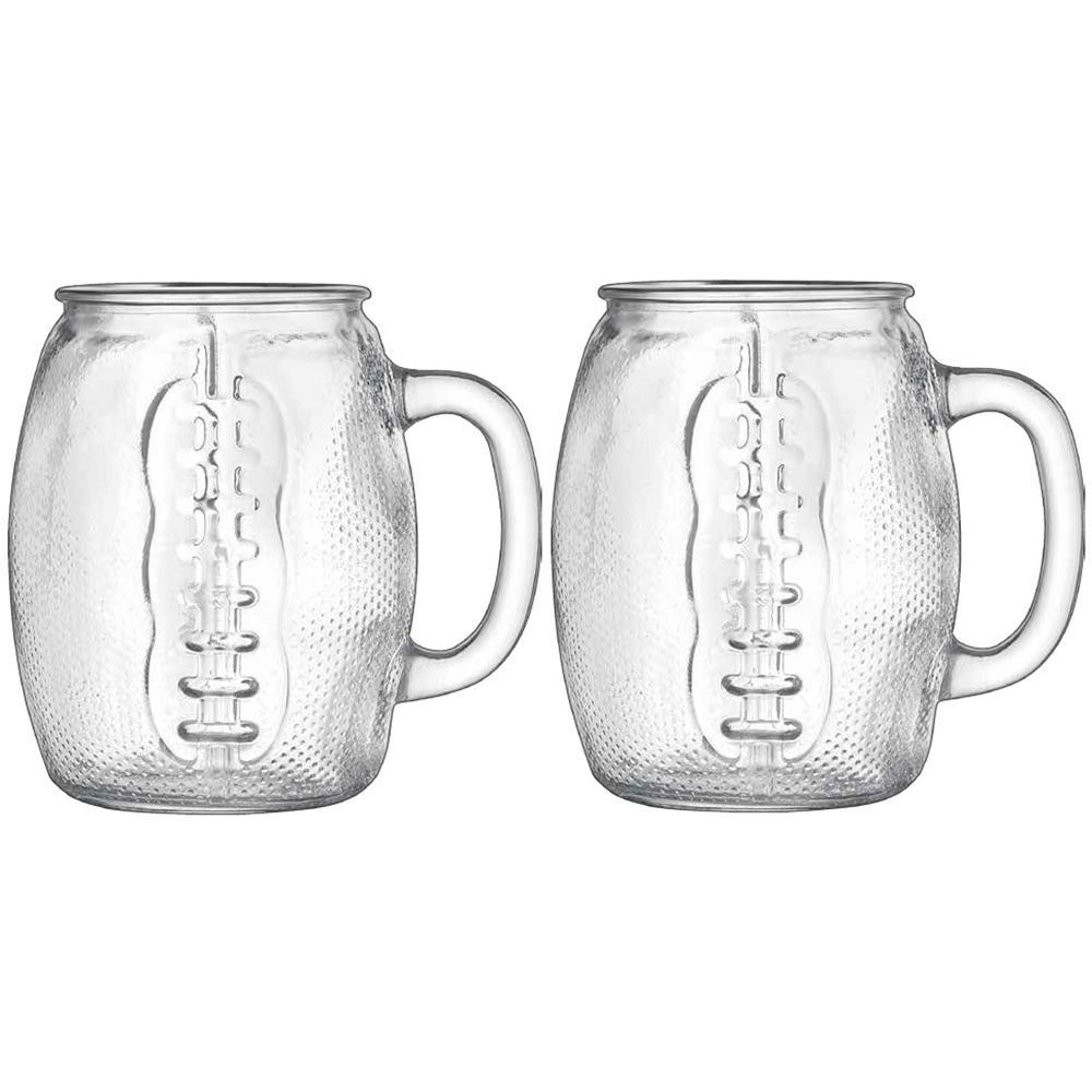 Beer Den 37 oz. Football Mugs (Set of 2)