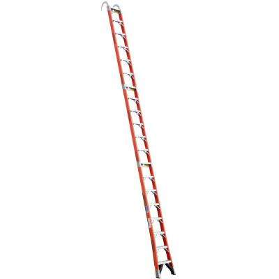 20 ft. Fiberglass Straight Posting Ladder with 300 lb. Load Capacity Type IA Duty Rating