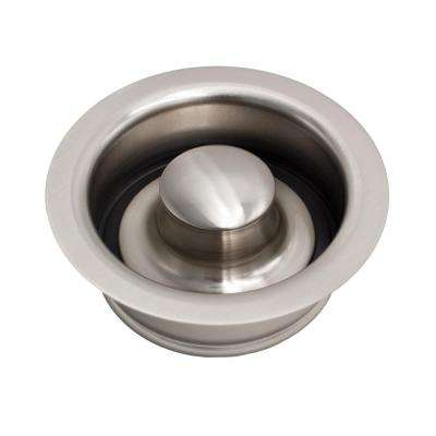 Kitchen Sink 3.5 in. ISE Disposal Flange with Stopper in Nickel