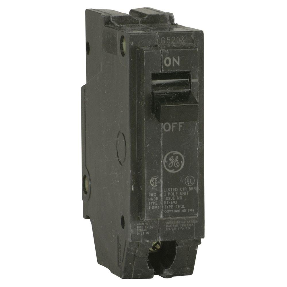 GE Q-Line 40 Amp 1 in. Single-Pole Circuit Breaker-THQL1140 - The ...