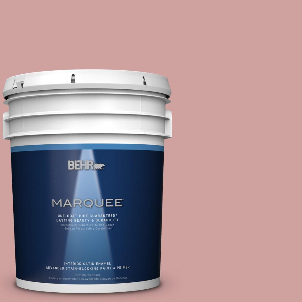 5 gal. #S150-3 Rose Pottery One-Coat Hide Satin Enamel Interior Paint