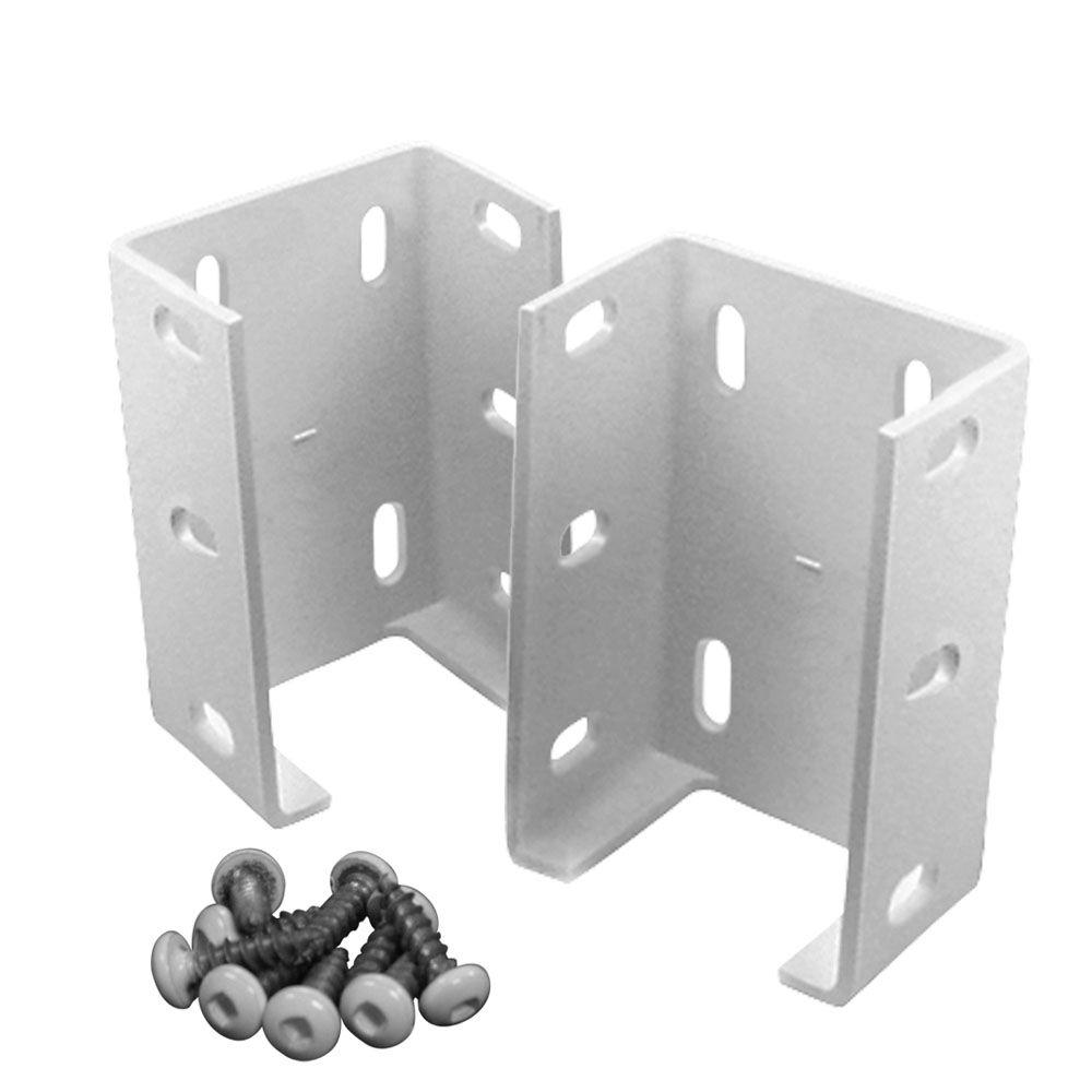 Veranda Aluminum Rail Bracket for Vinyl Fencing (2-Pack)