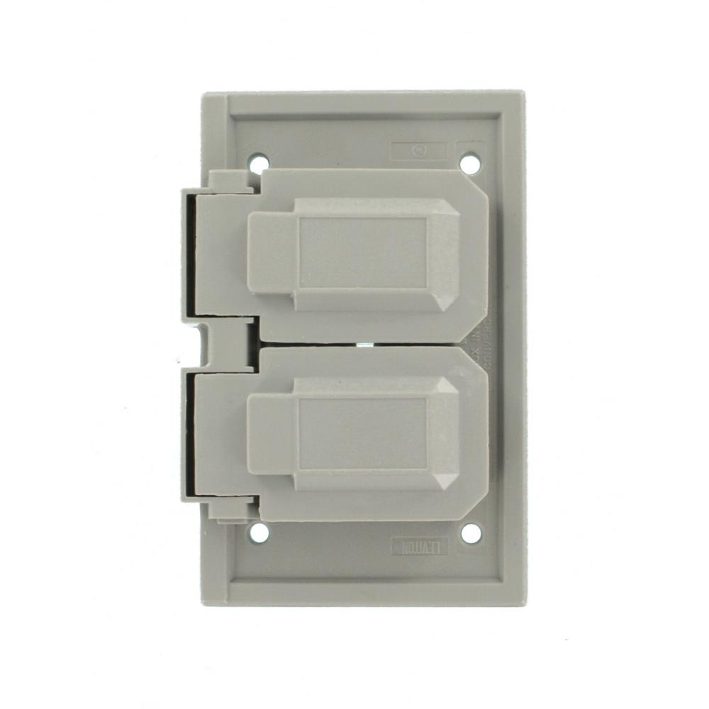 Leviton 1 Gang Raintight Weather Resistant Horizontal Cover Plate