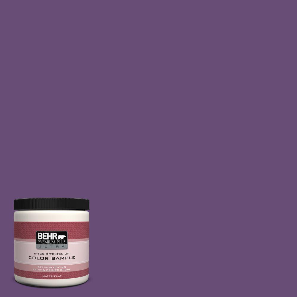 BEHR Premium Plus Ultra 8 oz. #660B-7 Exotic Purple Interior/Exterior Paint Sample