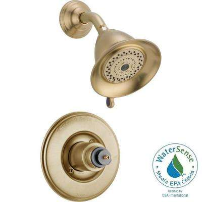 Victorian 1-Handle 3-Spray Shower Faucet Trim Kit in Champagne Bronze (Valve and Handles Not Included)