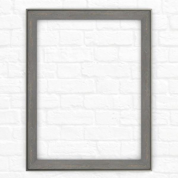 28 in. x 36 in. (M1) Rectangular Mirror Frame in Weathered Wood