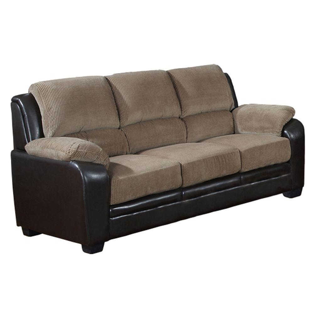 Venetian Worldwide Barton Saddle Brown Corduroy Sofa