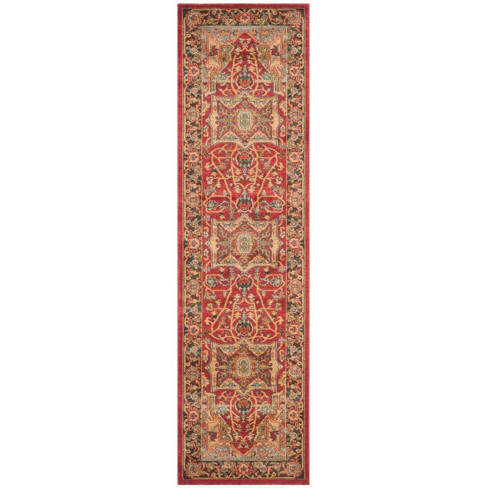 Mahal Natural/Navy 2 ft. 2 in. x 8 ft. Runner Rug