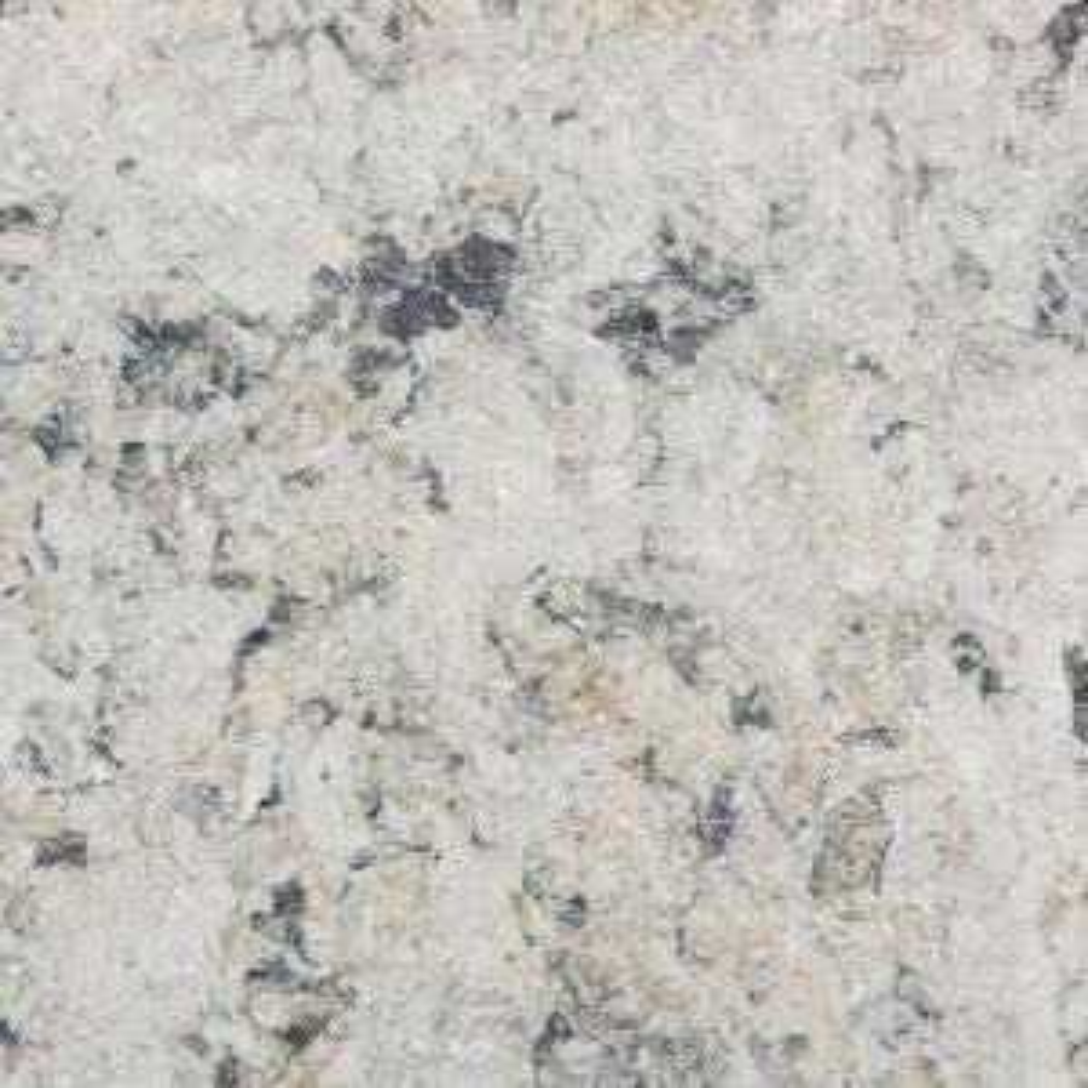Silestone 2 in  x 4 in  Quartz Countertop Sample in Desert Silver-SS