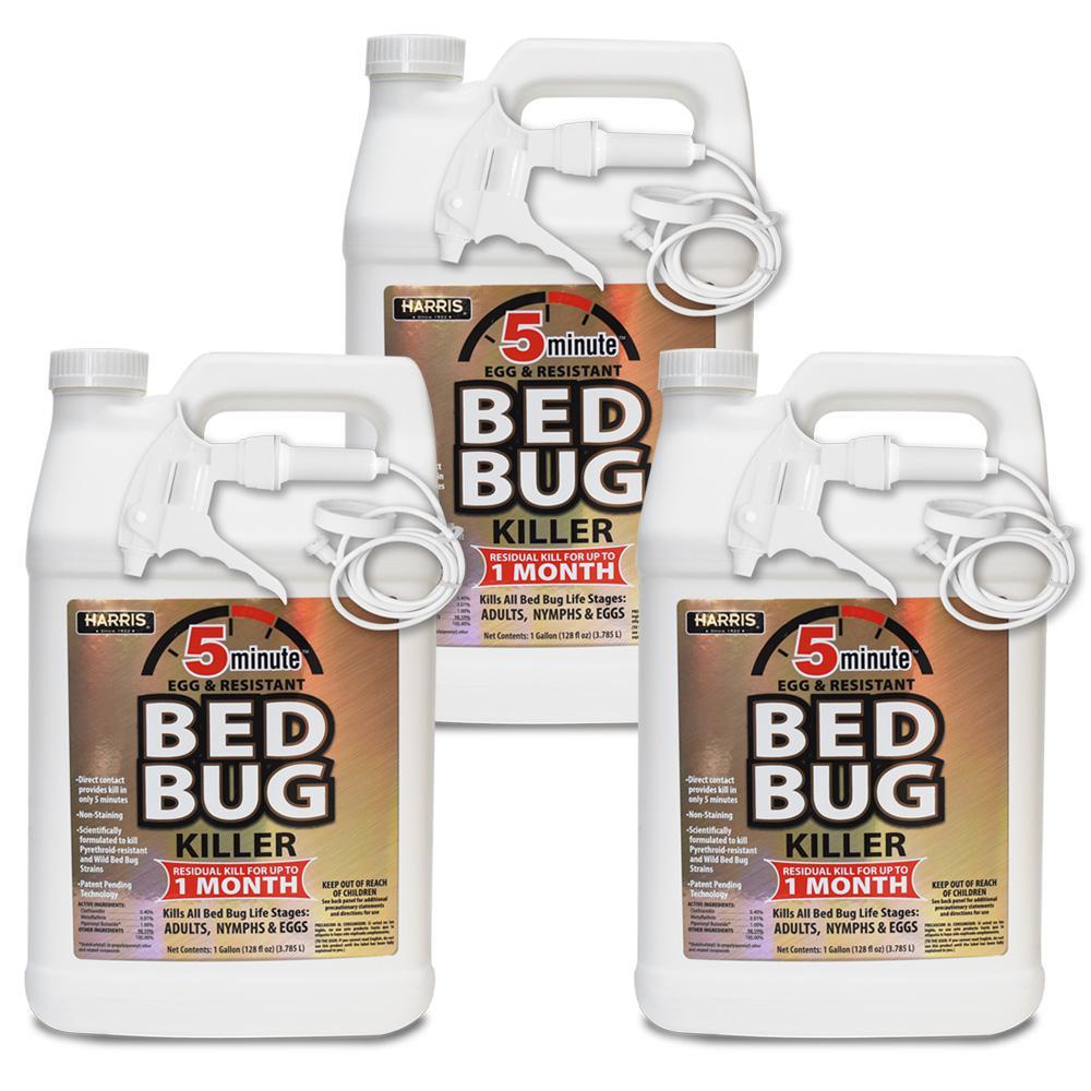 1 Gal. 5-Minute Egg and Resistant Bed Bug Killer/Professional Exterminator Formula (3 Pack)