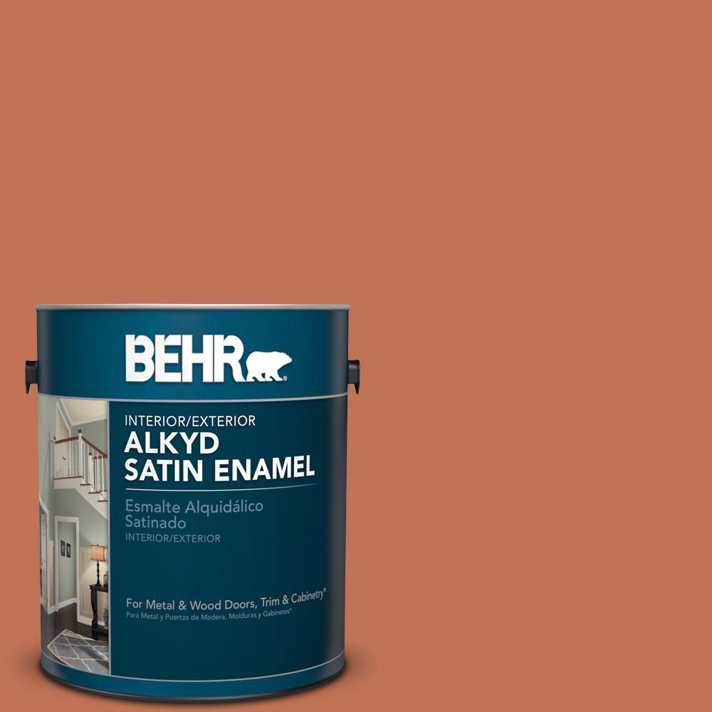 1 gal. #M200-6 Oxide Satin Enamel Alkyd Interior/Exterior Paint