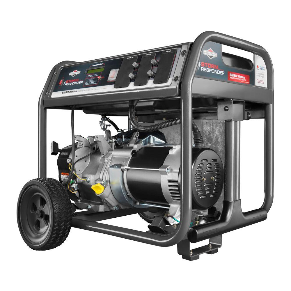Briggs & Stratton 6,250-Watt Storm Responder Gasoline Powered Portable  Generator
