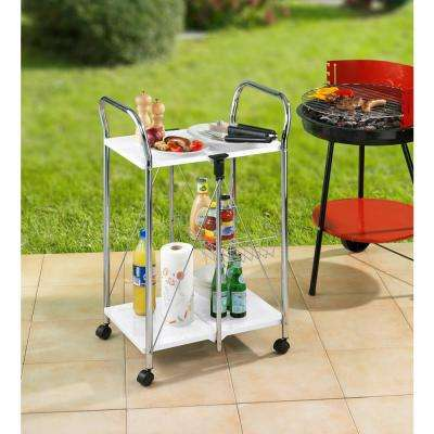 Dinette Chrome Kitchen Cart