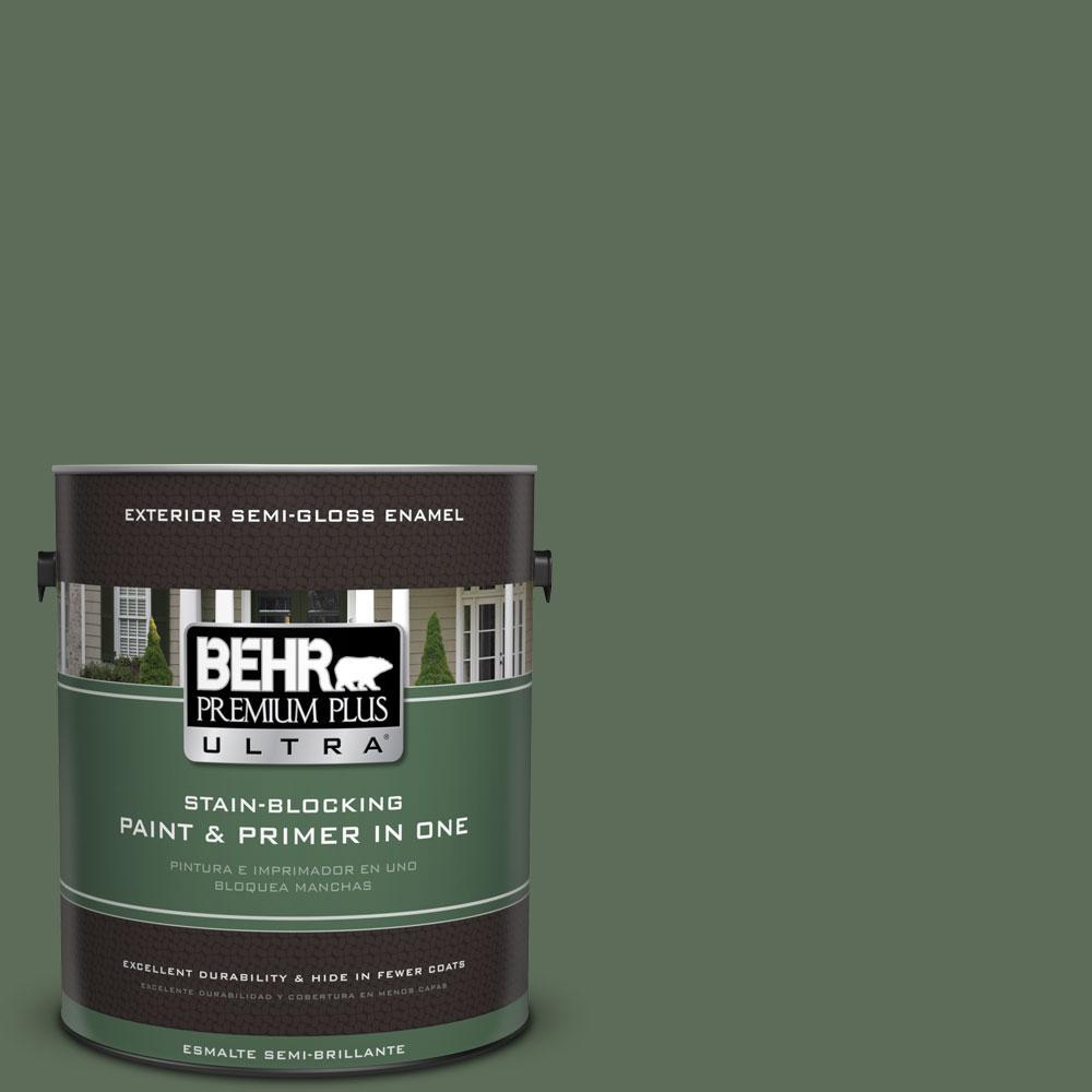 BEHR Premium Plus Ultra 1-gal. #PPU11-1 Royal Orchard Semi-Gloss Enamel Exterior Paint
