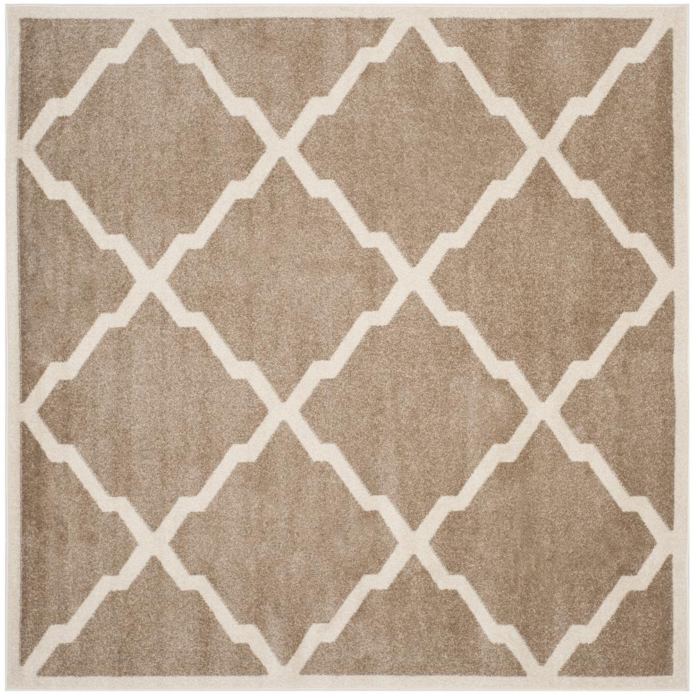 Indoor Outdoor Rugs Square: Safavieh Amherst Wheat/Beige 9 Ft. X 9 Ft. Indoor/Outdoor
