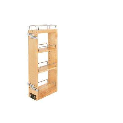 5 in. Pull-Out Wood Wall Organizer with Blum Soft-Close Slides